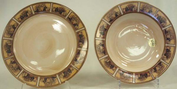 """Набор тарелок: суповая (23,5 см.) + обеденная (25 см.) """"Натюрморт"""""""