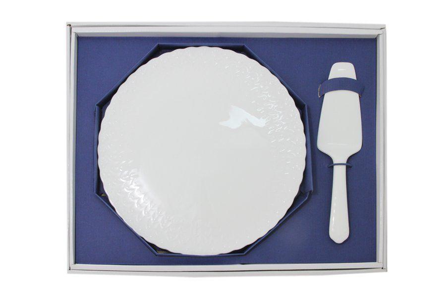 """Набор для торта: блюдо 30см + лопатка """"Шёлк"""""""