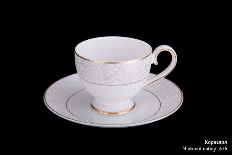 "Чайный набор на 6 персон ""Корнелия"", 12 пр."