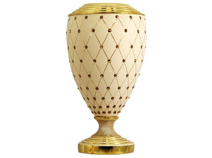 """Ваза декоративная  37см """"Murano Cream Gold"""""""