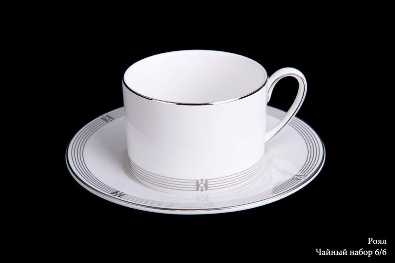 "Чайный набор на 6 персон ""Роял"", 12 пр."