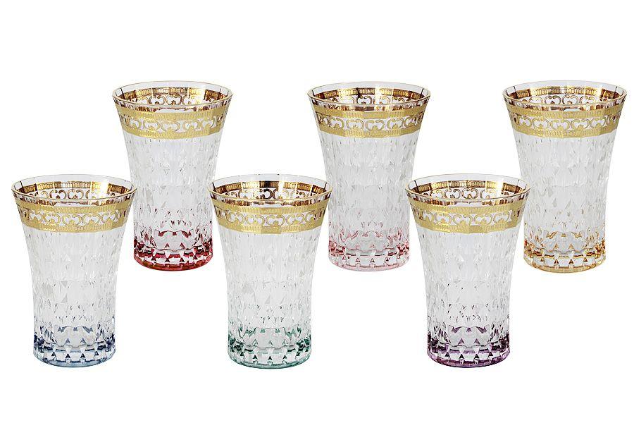 """Набор: 6 стаканов для воды 0.28 л """"Цветная Флоренция"""""""