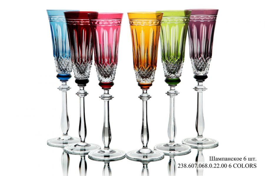 """Бокал для шампанского """"6Colors"""", 6 шт."""