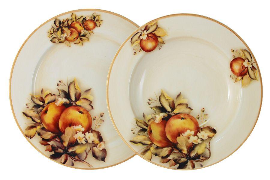 """Набор тарелок: суповая + обеденная """"Зимние яблоки"""", 23.5 см"""