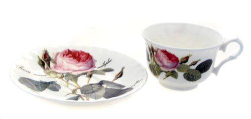 """Чайная пара низкая """"Роза Редаут"""", 230 мл"""