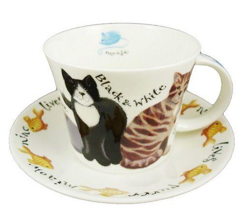 "Чайная пара ""Коты на прогулке"", 500 мл"