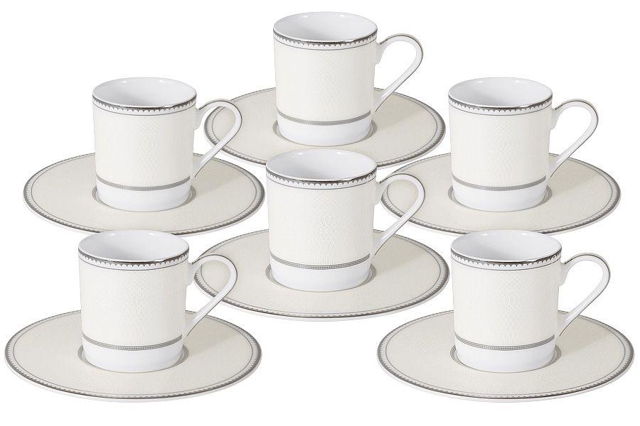 """Кофейный набор на 6 персон """"Жемчуг"""", 12 пр., 0.1 л"""