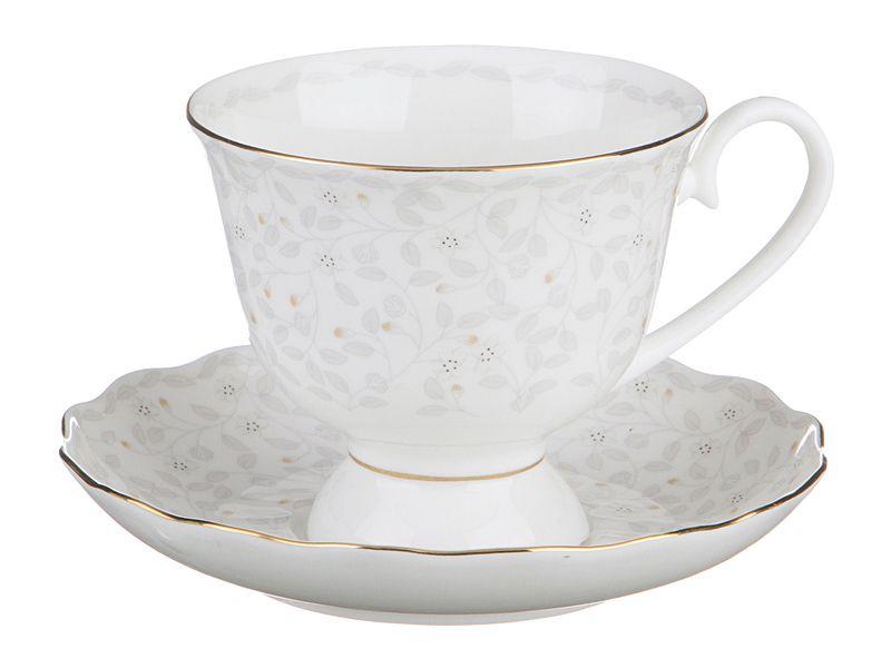 """Чайный набор на 1 персону """"Вивьен"""", 2 пр., 350 мл"""