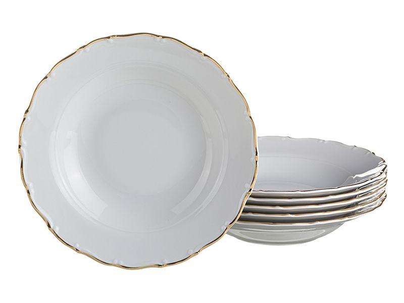 """Набор суповых тарелок """"Офелия 662"""", 23 см, 6 шт."""
