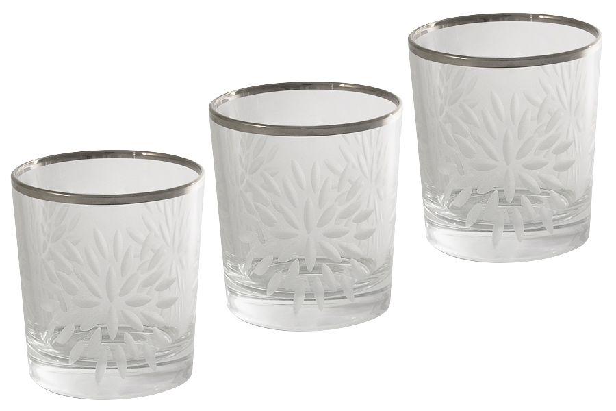 "Набор хрустальных стаканов для виски ""Умбрия Платина"" (матовая), 0.3л, 6шт."