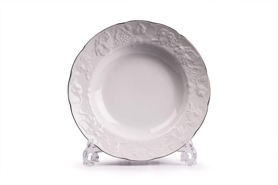 Тарелка глубокая, Д 22 см, Filet Platine (Vendange)