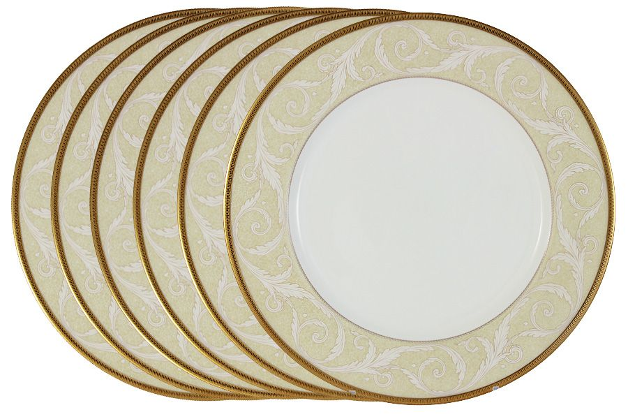 """Набор из 6 обеденных тарелок """"Ноктюрн золотой"""", 27 см"""